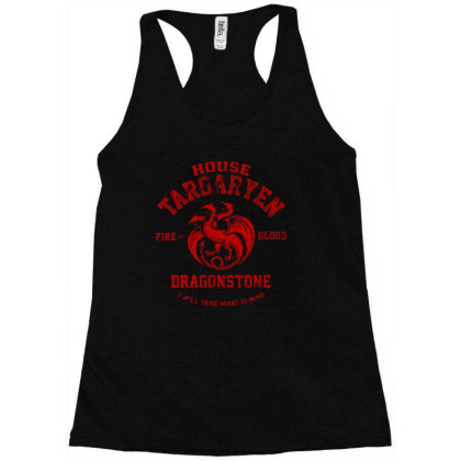 Fire And Blood Racerback Tank Designed By Thompson