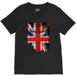 tardis British flag V-Neck Tee | Artistshot