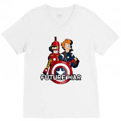 captain fry and iron bender in a civil future war V-Neck Tee | Artistshot