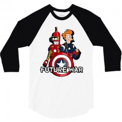captain fry and iron bender in a civil future war 3/4 Sleeve Shirt | Artistshot