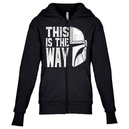 This Is The Way Youth Zipper Hoodie Designed By Rslt