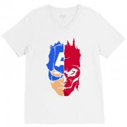 captain vs hydra V-Neck Tee | Artistshot
