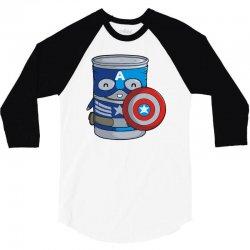 captin america 3/4 Sleeve Shirt | Artistshot