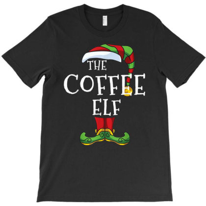 Coffee Elf Family Matching Christmas Group Gift Pajama T-shirt Designed By Mrt90