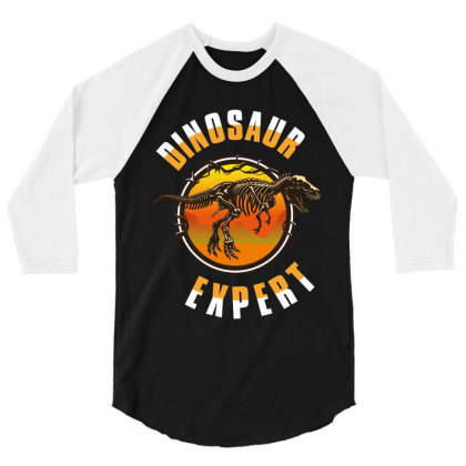 Dinosaur Expert 3/4 Sleeve Shirt Designed By Rardesign