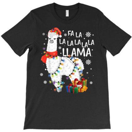 Fa La La Llama Funny Christmas T-shirt Designed By Mrt90