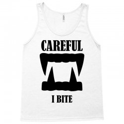 careful i bite halloween m Tank Top | Artistshot