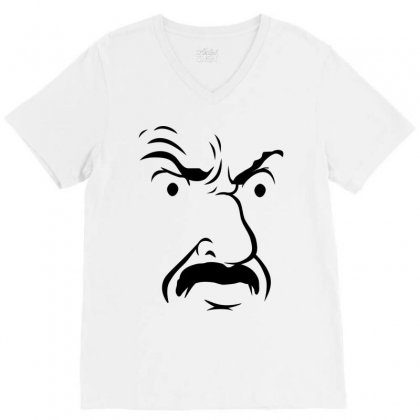 Carl's Face Athf V-neck Tee Designed By Monstore