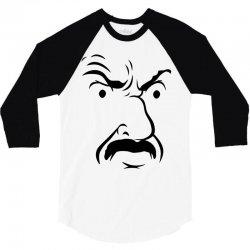 carl's face athf 3/4 Sleeve Shirt   Artistshot