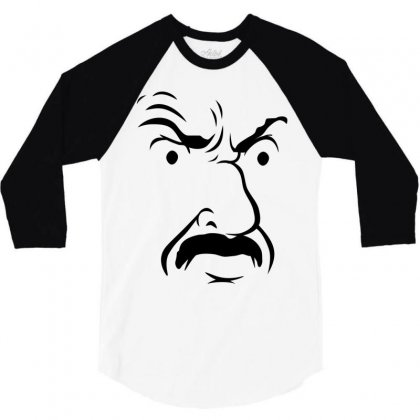 Carl's Face Athf 3/4 Sleeve Shirt Designed By Monstore