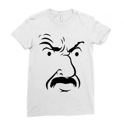 Carl's Face Athf Ladies Fitted T-shirt Designed By Monstore