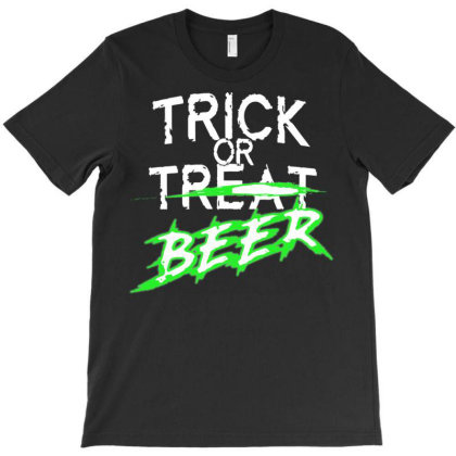 Trick Or Beer T-shirt Designed By Lotus Fashion Realm
