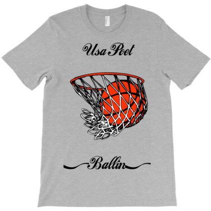 Usa Poet (basketballers) T-shirt Designed By Lotus Fashion Realm