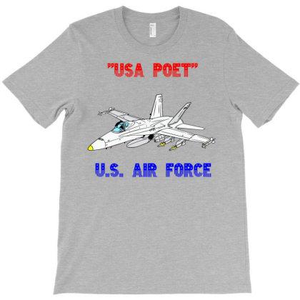 Usa Poet (u.s. Air Force) T-shirt Designed By Lotus Fashion Realm