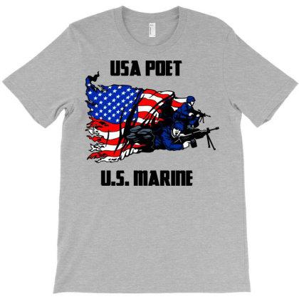 Usa Poet (u.s. Marine) T-shirt Designed By Lotus Fashion Realm