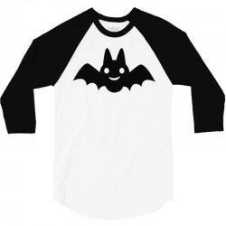 cartoon bat silhouette 3/4 Sleeve Shirt | Artistshot