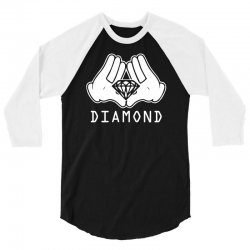 cartoon hands diamond 3/4 Sleeve Shirt | Artistshot