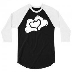 cartoon hands heart 3/4 Sleeve Shirt | Artistshot