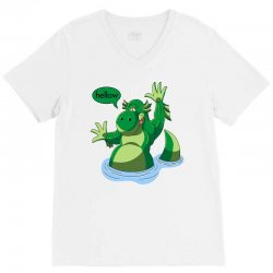 cartoon nessy V-Neck Tee | Artistshot