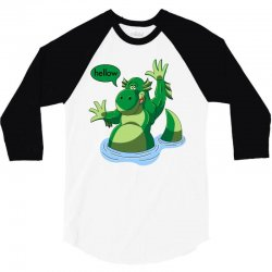 cartoon nessy 3/4 Sleeve Shirt | Artistshot