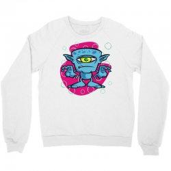 cartoon one eyed space monster Crewneck Sweatshirt | Artistshot