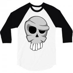 cartoon skull 3/4 Sleeve Shirt | Artistshot