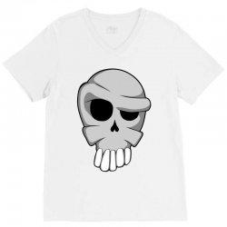 cartoon skull V-Neck Tee | Artistshot