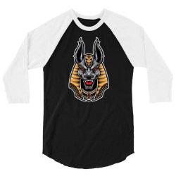 anubis head scream 3/4 Sleeve Shirt | Artistshot
