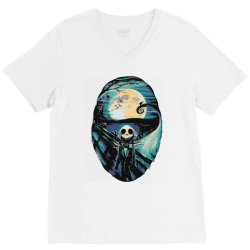 scream before halloween V-Neck Tee | Artistshot