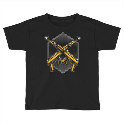 Assault Rifle Toddler T-shirt Designed By Tariart