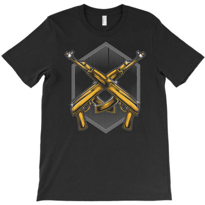 Assault Rifle T-shirt Designed By Tariart