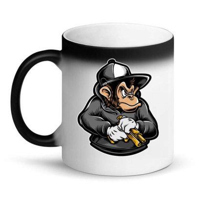 Ape Holding Gun Magic Mug Designed By Tariart
