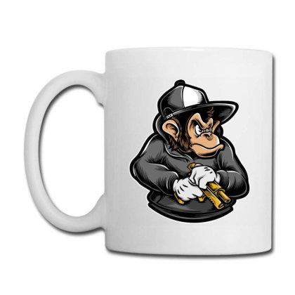 Ape Holding Gun Coffee Mug Designed By Tariart