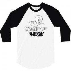 casper the friendly dead child 3/4 Sleeve Shirt | Artistshot