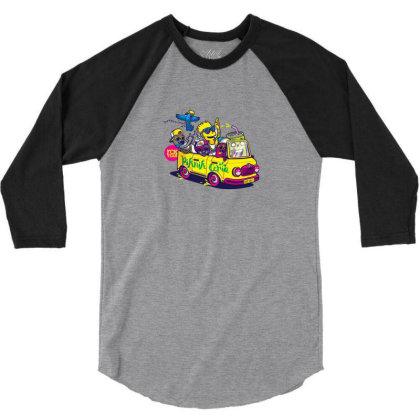 Simpsons Hip Hop Dance 3/4 Sleeve Shirt Designed By Coşkun