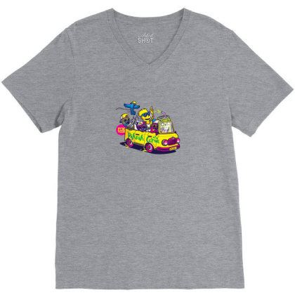 Simpsons Hip Hop Dance V-neck Tee Designed By Coşkun
