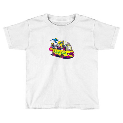 Simpsons Hip Hop Dance Toddler T-shirt Designed By Coşkun
