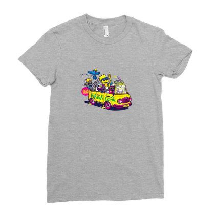 Simpsons Hip Hop Dance Ladies Fitted T-shirt Designed By Coşkun