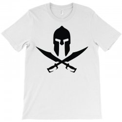 casque sparte skull pirate 300 rouge T-Shirt | Artistshot