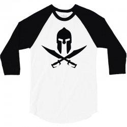 casque sparte skull pirate 300 rouge 3/4 Sleeve Shirt | Artistshot
