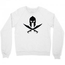 casque sparte skull pirate 300 rouge Crewneck Sweatshirt | Artistshot