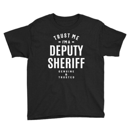 Deputy Sheriff Job Title Gift Youth Tee Designed By Cidolopez