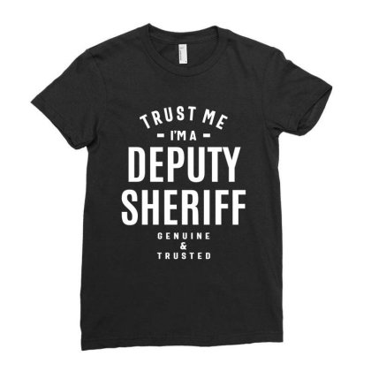 Deputy Sheriff Job Title Gift Ladies Fitted T-shirt Designed By Cidolopez
