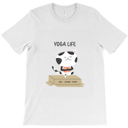 Cats Doing Yoga Postures T-shirt Designed By Perfect Designers