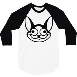 cat character graphic 3/4 Sleeve Shirt | Artistshot