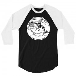cat fish 3/4 Sleeve Shirt | Artistshot
