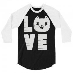 cat love 3/4 Sleeve Shirt | Artistshot