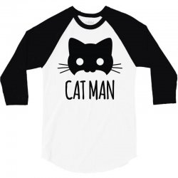 cat man 3/4 Sleeve Shirt | Artistshot