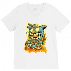 cat monster (2) V-Neck Tee   Artistshot