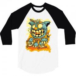 cat monster (2) 3/4 Sleeve Shirt   Artistshot
